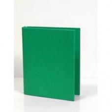 Caiet mecanic 2 inele - D25mm, coperti carton plastifiat PVC, A5, AURORA - verde