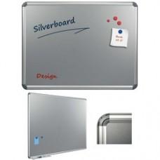 Tabla argintie magnetica 100 x 200 cm, profil aluminiu Design, SMIT