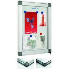 Avizier interior/exterior Recto, tabla alba magnetica,  4 x A4, 60 x  42 cm, SMIT