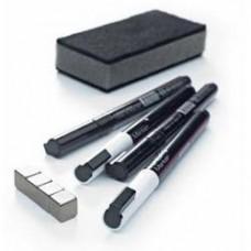 Starter set Basic pentru table din sticla (4 markere, 4 magneti, 1 burete magnetic), SMIT