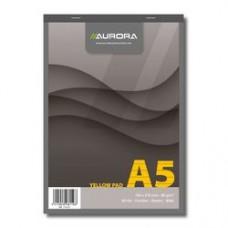 Blocnotes capsat, A5,  80 file - 80g/mp, microperforatii, AURORA Office - dictando - hartie galbena