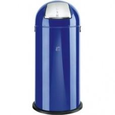 Cos metalic cu capac bombat, forma rotunda, 52 litri, ALCO - albastru