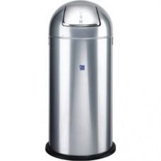 Cos metalic cu capac bombat, forma rotunda, 52 litri, ALCO - argintiu