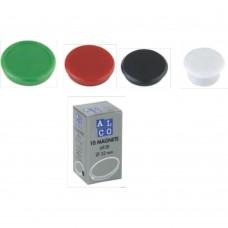 Magneti 24mm, 10/cutie, ALCO - negru