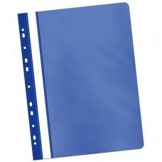 Dosar de plastic multiperforat albastru