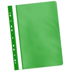 Dosar de plastic multiperforat verde