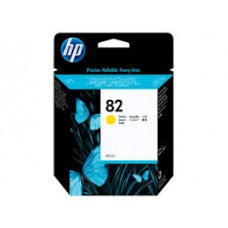 Cartus HP 82 Yellow Ink Cartridge, 69 ml