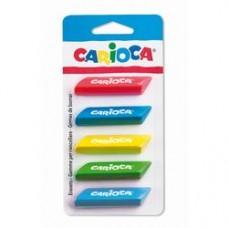 Radiere triunghiulare colorate, 6 buc/blister, CARIOCA