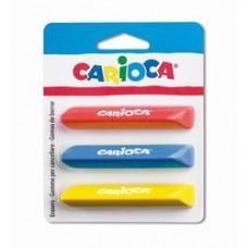 Radiere triunghiulare colorate, 3 buc/blister, CARIOCA