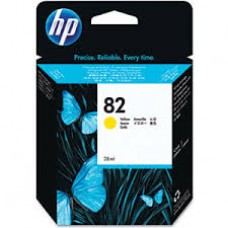 Cartus HP 82 28-ml Yellow Ink  CH568A