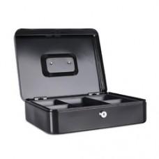 Caseta (cutie) metalica pentru bani, 300 x 240 x 90 mm, DONAU - negru