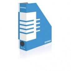 Suport vertical pentru cataloage, A4 -   8cm latime, din carton, DONAU - albastru