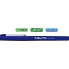 Liner ARTLINE 200, varf fetru 0.4mm - albastru