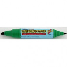 Watercolor marker ARTLINE 325T, doua capete - varf rotund 2.0mm/tesit 5.0mm - verde