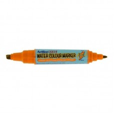 Watercolor marker ARTLINE 325T, doua capete - varf rotund 2.0mm/tesit 5.0mm - portocaliu