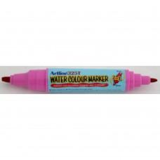 Watercolor marker ARTLINE 325T, doua capete - varf rotund 2.0mm/tesit 5.0mm - roz