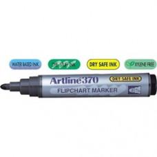 Marker pentru flipchart ARTLINE 370 - Dry safe ink, corp plastic, varf rotund 2.0mm - negru