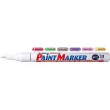 Marker cu vopsea ARTLINE 444XF, corp metalic, varf rotund 0.8mm - alb