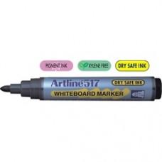 Marker pentru tabla de scris ARTLINE 517 - Dry safe ink, varf rotund 2.0mm - albastru