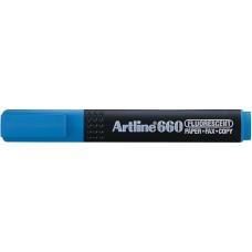 Textmarker ARTLINE 660, varf tesit 1.0-4.0mm - albastru deschis