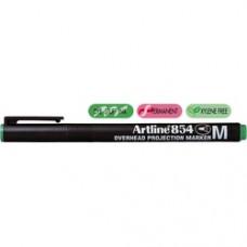OHP Permanent marker ARTLINE 854, varf mediu - 1.0mm - verde