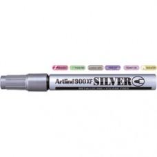 Marker cu vopsea ARTLINE 900XF, corp metalic, varf rotund 2.3mm - argintiu