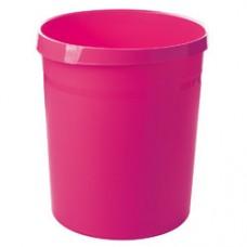 Cos de birou pentru hartii, 18 litri, HAN Grip Trend-Colours - roz
