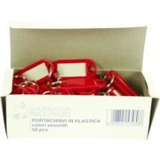 Etichete pentru chei,  50/cutie, ARTIGLIO - culori asortate