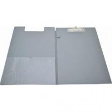 Clipboard dublu, plastifiat PVC, KANGARO - gri
