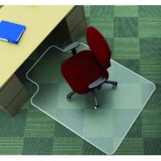 Covoras PVC transparent, protectie mocheta, 120 x  90cm - cu limba, Q-connect