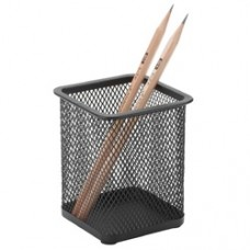 Suport metalic Mesh, pentru instrumente de scris, forma patrata, Q-Connect - negru