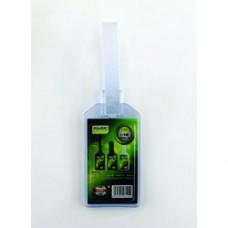 Porteticheta din PVC flexibil pentru bagaje, 20 x 35mm, KEJEA - transparent