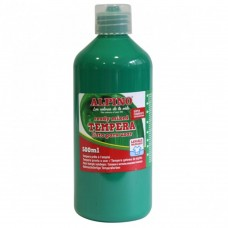 Acuarele Tempera lavabila, 500ml, Alpino - verde inchis