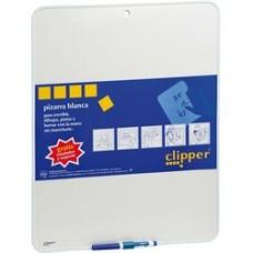 Tablita pentru scris 25.5 x 18 cm + marker, CLIPPER - alba