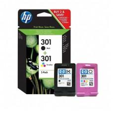 Cartus HP 301 2-pack Black/Tri-color Original Ink Cartridges