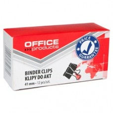 Clip hartie 41mm, 12buc/cutie, Office Products - negru