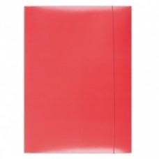 Mapa din carton plastifiat cu elastic, 300gsm, Office Products - rosu