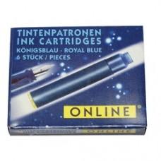 Patroane cerneala, ONLINE - albastru royal, 6 buc/cutie