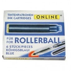 Patroane cerneala pentru roller, ONLINE - albastru, 12 buc/cutie