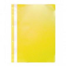 Dosar plastic cu sina, cu gauri, 10 buc/set, Optima - galben