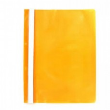 Dosar plastic cu sina, cu gauri, 10 buc/set, Optima - orange