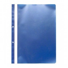 Dosar plastic cu sina, cu gauri, 10 buc/set, Optima - albastru