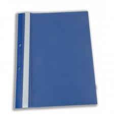 Dosar plastic cu sina, cu gauri, 10 buc/set, Optima - bleumarin