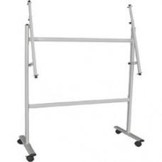 Stand metalic pentru panouri de la 90 x 120cm pana la 120 x 240cm, pe rotile, Optima