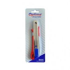 Cutter basic Optima, lama 18mm SK5, sina metalica, aluminiu cu ABS
