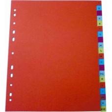 Index plastic color, alfabetic A-Z, A4, 125 microni, Optima