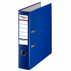 Biblioraft A4, plastifiat PP/paper, margine metalica, 75 mm, Optima Basic - bleumarin