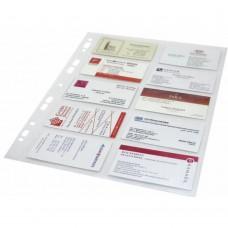 Folie protectie pentru 20 carti de vizita, 120 microni, 10/set, Optima - cristal