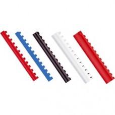 Inele plastic  8 mm, max 45 coli, 100buc/cut, Optima - alb