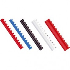 Inele plastic  8 mm, max 45 coli, 100buc/cut, Optima - negru